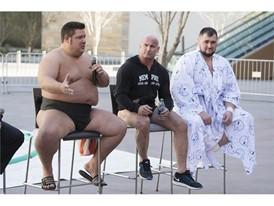 Dan Kalbfleisch, Robert Daniel and Soslan Gagloev describe sumo wrestling