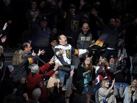 Fans at the Vegas Golden Knights NHL hockey game
