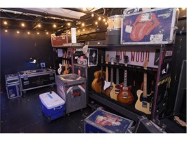 """A recreation of a backstage scene is featured at the Rolling Stones """"Exhibitionism"""""""