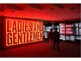"""Guests tour the Rolling Stones """"Exhibitionism"""" display at the Palazzo"""