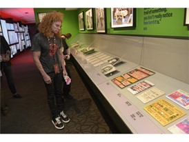"Carrot Top surveys early items at the Rolling Stones ""Exhibitionism"""
