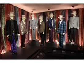 "A collection of stage outfits is seen at the Rolling Stones ""Exhibitionism"""