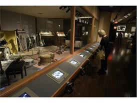 """Guests get a look at recording studio artifacts at the Rolling Stones """"Exhibitionism"""""""