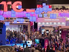 Some of the over 175,000 attendees are seen during the second day of CES