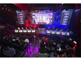 The eUnited team takes on Spacestation during the grand opening of Esports Arena Las Vegas