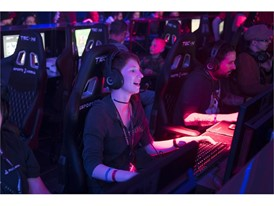 Guests play various games during the grand opening of Esports Arena Las Vegas