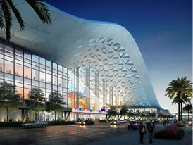 A design rendering, released April 10, 2018, showing the Las Vegas Convention Center District Phase Two Expansion