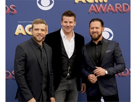Max Thieriot, David Boreanaz and AJ Buckley stars of the hit TV series SEAL Team