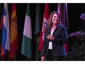 "Stacey Escalante, president of Escalante Media Management, leads a presentation, ""Crimes, Crisis and the Media"""