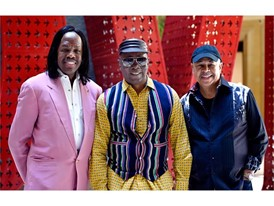 Verdine White, Philip Bailey and Ralph Johnson of Earth, Wind & Fire