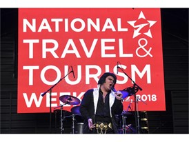 Elvis tribute artist Tyler James performs as part of National Travel and Tourism Week