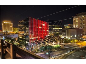 Las Vegas City Hall goes red for National Travel and Tourism Week