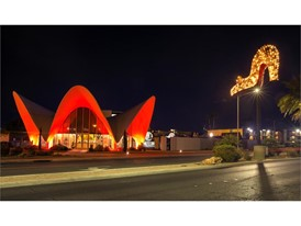 Neon Museum goes red for National Travel and Tourism Week