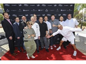 Chefs pose for a group photo as Vegas Uncork'd kicks off i