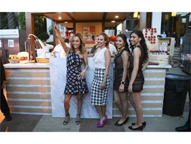 Giada De Laurentiis poses with employees during the Grand Tasting