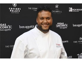 Chef Timon Balloo poses on the red carpet during the Grand Tasting