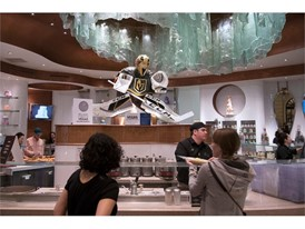 Sculpture of Vegas Golden Knights goaltender Marc-Andre Fleury is seen at the Bellagio Patisserie
