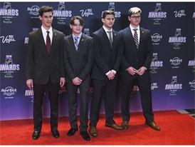 Members of the Stoneman Douglas High School hockey team