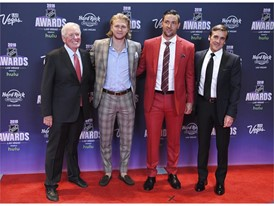 Bill Foley, William Karlsson, Deryk Engelland and George McPhee