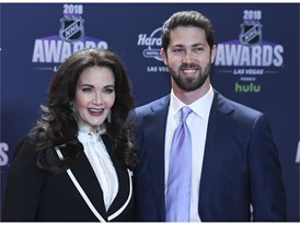 Lynda Carter and her son James Carter