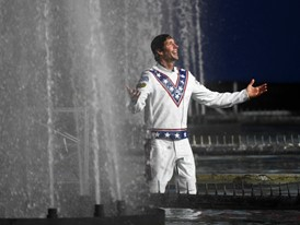 Travis Pastrana fountain