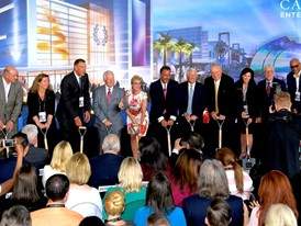 Caesars Entertainment Executives and dignitaries at the groundbreaking of CAESARS FORUM