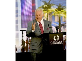 Roger Dow, President and CEO of the U.S. Travel Association speaking at the groundbreaking of CAESARS FORUM