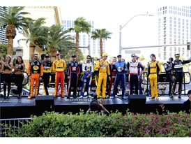NASCAR's top 16 drivers are introduced to fans before they jump in their cars and parade down the Las Vegas Strip