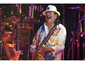 Carlos Santana helped kick off the long Mexican Independence Day weekend in Las Vegas