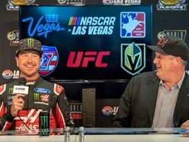 NASCAR champion Kurt Busch and  Derek Stevens of The D Las Vegas and the Downtown Events Center