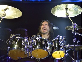 Alfonso Andre performs with Caifanes at the MGM Grand Garden Arena