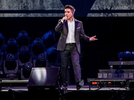 Alejandro Fernández performs during a concert at The Mandalay Bay Events Center
