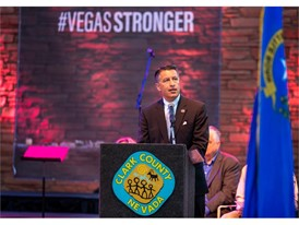 Nevada Governor Brian Sandoval speaks at the 1 October Sunrise Remembrance