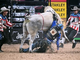 Ryan Dirteater Flung by Bull