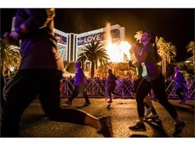 Runners near Mirage Hotel