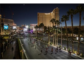 Runners make their way up Las Vegas Boulevard