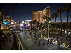 Runners make their way up Las Vegas Boulevard