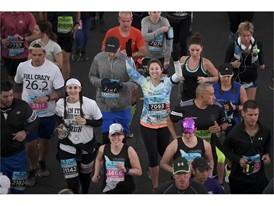 Runners leave start line