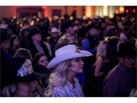 Guests enjoy the Professional Rodeo Cowboys Association's welcome reception