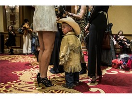 Shooter Muncy, 2, enjoys the Professional Rodeo Cowboys Association's welcome reception