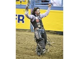Bareback rider Wyatt Denny