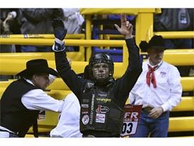 Bull rider Joe Frost
