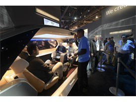 Attendees check out Panasonic's Autonomous Living Space