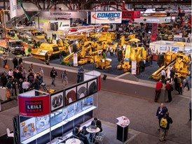 World of Concrete trade show floor