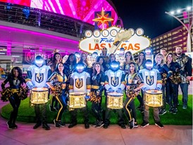 The Vegas Golden Knights Drumbots drumline