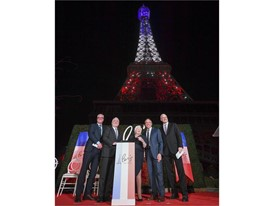 A celebration of the platinum anniversary of Paris Las Vegas and a new light show for its Eiffel Tower