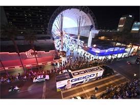 NASCAR haulers parade