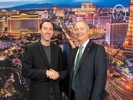 Steve Davis, left, president of The Boring Company (TBC), and Steve Hill, LVCVA CEO and president