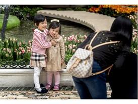 Little girls pose