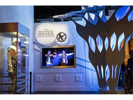 The exterior of The Hunger Games: The Exhibition
